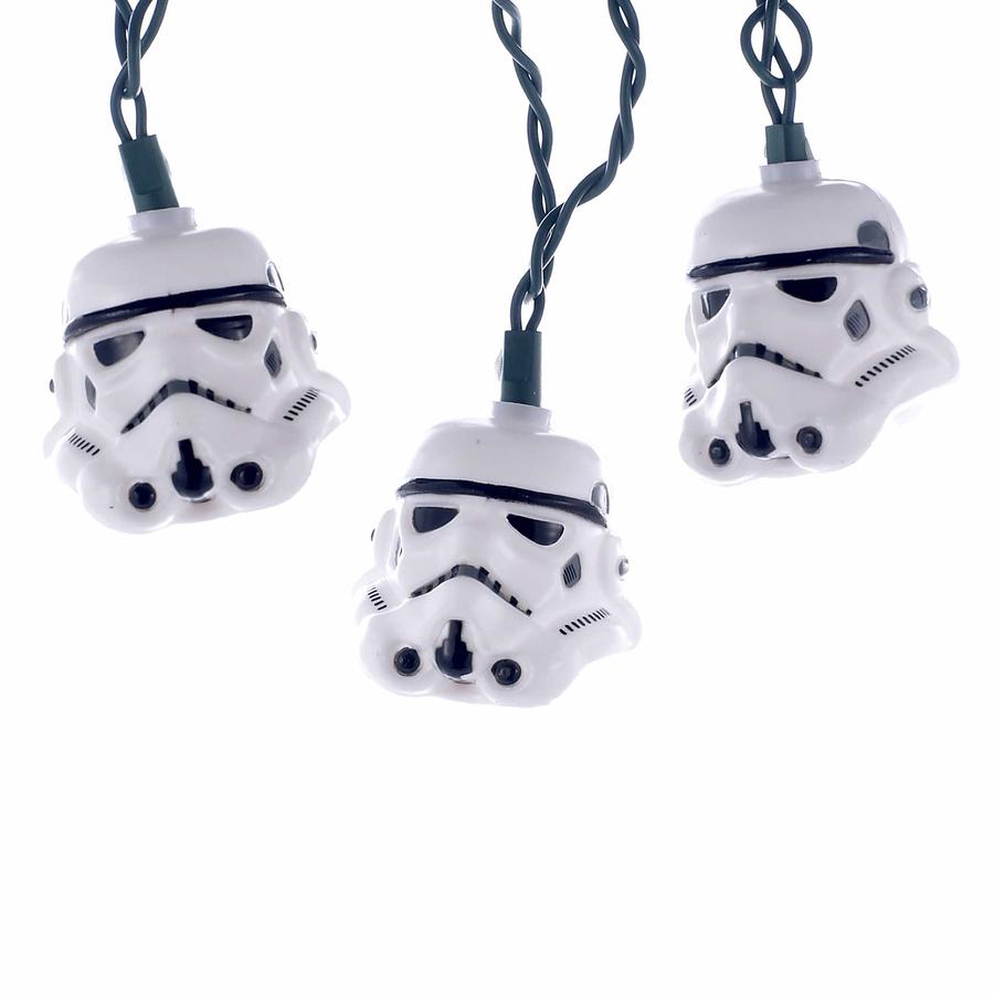 NEW Star Wars Storm trooper Helmet White Light Set Christmas Holiday Kurt Adler
